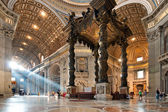 St. Peter's Basilica interior — Stock Photo