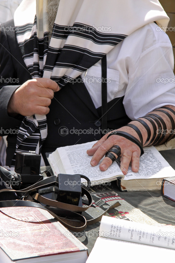 Jewish Prayer at the Western Wall in Jerusalem — Stock Photo #4437727