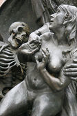 Detail of a monument in Nuremberg — Stock Photo