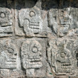 Tzompantli. Chichen Itza - Stock Photo