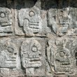 Tzompantli. Chichen Itza — Stock Photo #4493168