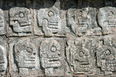 Tzompantli. Chichen Itza — Stock Photo
