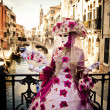 Masquerade in Venice - Stock Photo