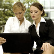 Stock Photo: Two businesswomen