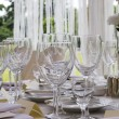 Table set for dinner — Foto Stock