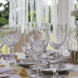 Table set for dinner - Stock Photo