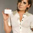 Woman with card — Stock Photo #4533007