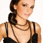 Brunette in black — Stock Photo #4533291
