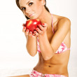 Girl with apple — Stock Photo #4533733