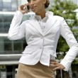 Blonde businesswoman — Stock Photo