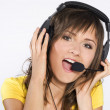 Stock Photo: Girl with headphones