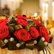 Big fresh bunch of red roses - ストック写真