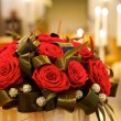Big fresh bunch of red roses - Stock fotografie