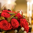 Big fresh bunch of red roses - Stock Photo