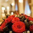Big fresh bunch of red roses — Foto Stock