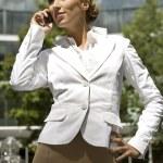 Blonde businesswoman — Stock Photo