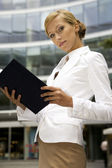 Young and attractive businesswoman — Stock Photo