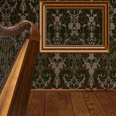 Vecchio telaio sul muro. — Foto Stock