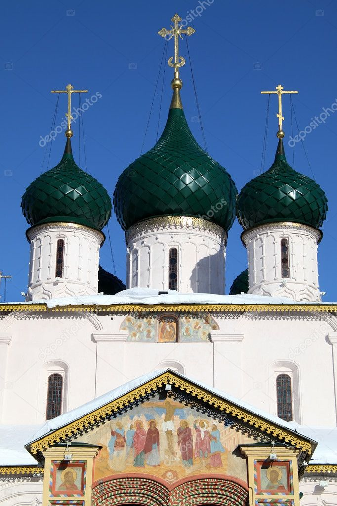 Elijah the Prophet Church in Yaroslavl, Russia — Stock Photo #5116421