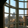 Atlanta through a Window - Stockfoto
