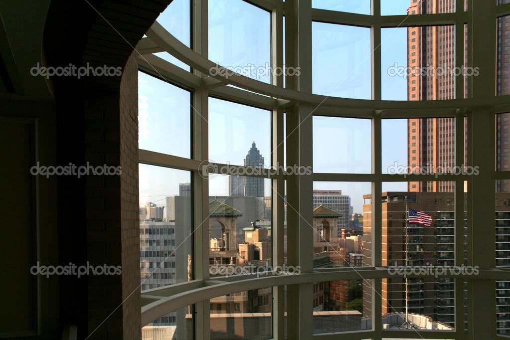 Atlanta as seen through a window — Stock Photo #4480409
