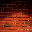 Spotlight on Brick Wall - Stockfoto