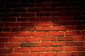 Spotlight on Brick Wall — Foto Stock
