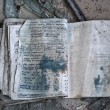 Постер, плакат: Left exercise book in Pripyat
