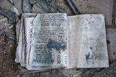 Left exercise book in Pripyat — Stock Photo