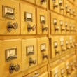 Stock Photo: Card catalogue