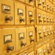Card catalogue — Stock Photo