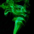 Stock Photo: Green clouds of smoke