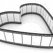 Blank Filmes Heart — Stock Photo