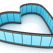 Blue Blank Filmes Heart - Stock Photo