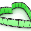 Green Blank Filmes Heart - Stock Photo