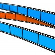 Two blue and one orange Film - Stock Photo