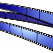 Three blue Film - Stock Photo