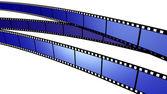 Three blue Film — Stock Photo