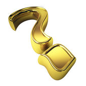 Gold question mark — Stock Photo