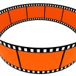 3d blank films ring — Stock Photo