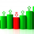 Barchart with arrows — Stock Photo