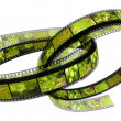 Stock Photo: Two 3d filled films ring