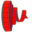 Stock Photo: 3d film Segment rolled forward