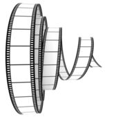 3d film Segment rolled forward — Stock Photo