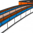 Colored 3d blank films — Stock Photo