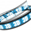 3d film rolled up — Stock Photo