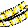 3d film rolled up - Stock Photo