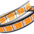 3d film rolled up — Stock Photo #4747549