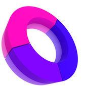 Color Pie Diagram — Stock Photo