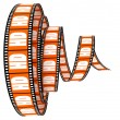 HD film Segment rolled forward — Stock Photo